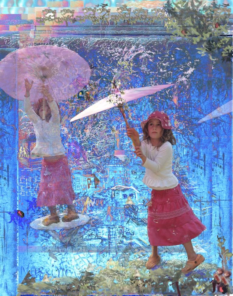 Nussinov Gallery Redfern Galleries Sydney Art Out Live umbrella girl Micha Nussinov