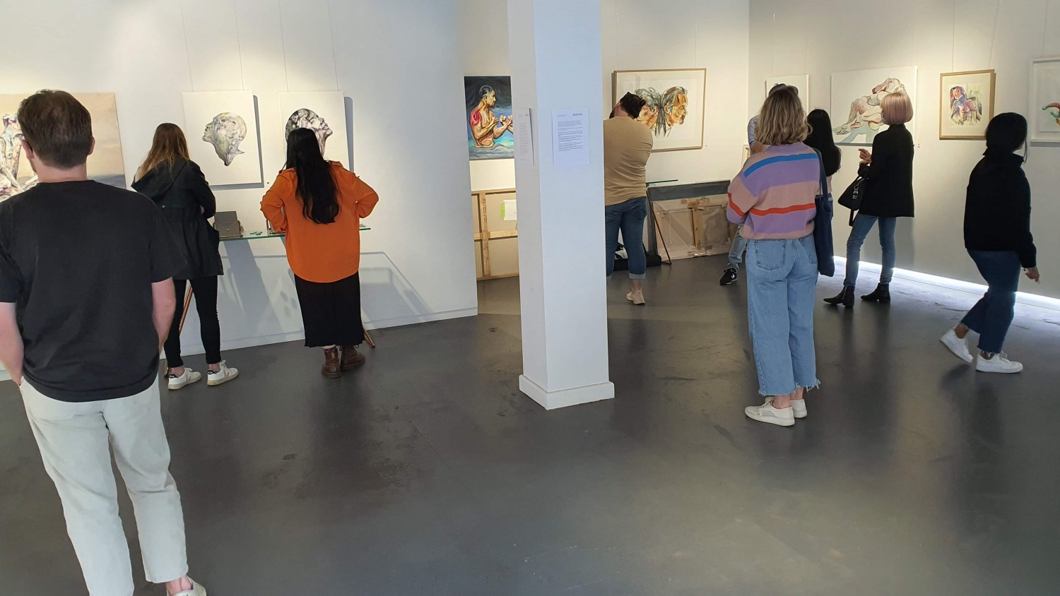 Peach Black Chippendale Gallery Sydney Art Out Walk September 2020 Art Out Live (1)