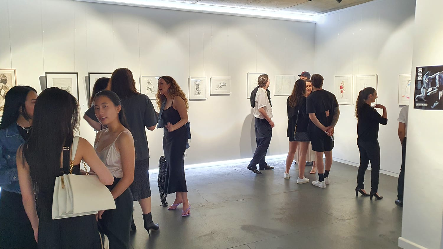 Peach Black Chippendale Gallery Life Drawing Club Exhibition November 2020 Sydney Art Out Live (10)
