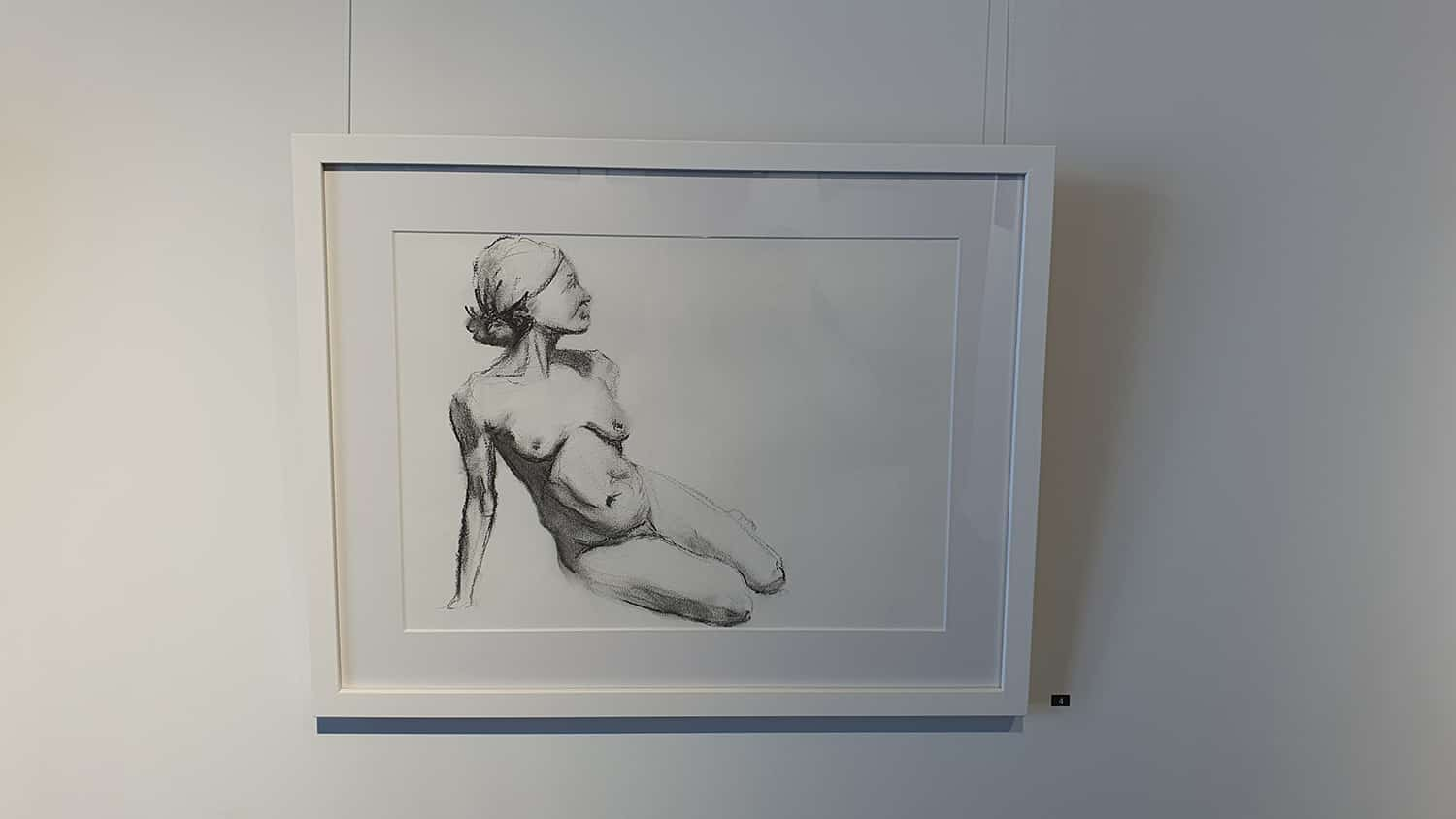Peach Black Chippendale Gallery Life Drawing Club Exhibition November 2020 Sydney Art Out Live (14)