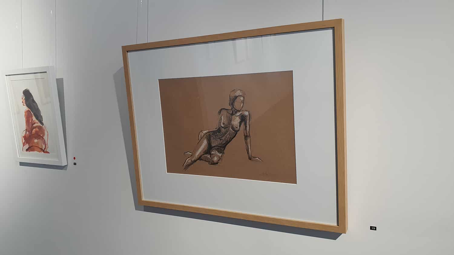 Peach Black Chippendale Gallery Life Drawing Club Exhibition November 2020 Sydney Art Out Live (17)