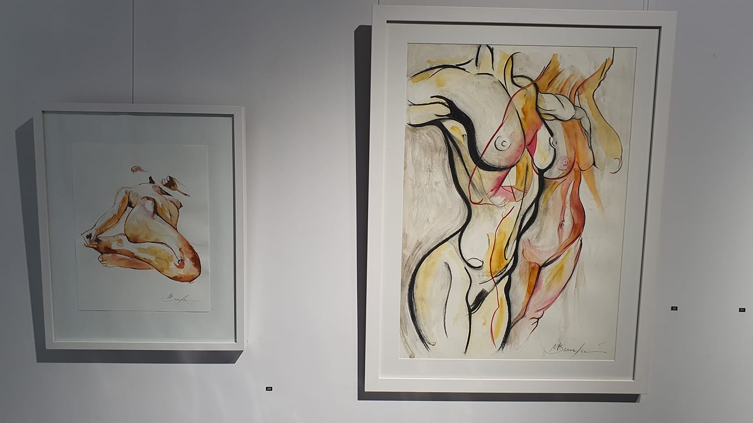 Peach Black Chippendale Gallery Life Drawing Club Exhibition November 2020 Sydney Art Out Live (20)