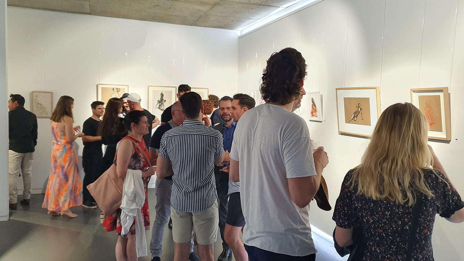 Peach Black Chippendale Gallery Life Drawing Club Exhibition November 2020 Sydney Art Out Live (9)