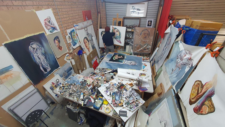 Peach Black Chippendale Gallery Matteo Bernasconi Sydney Art Out Live (5)