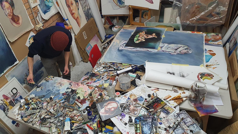 Peach Black Chippendale Gallery Matteo Bernasconi Sydney Art Out Live (6)