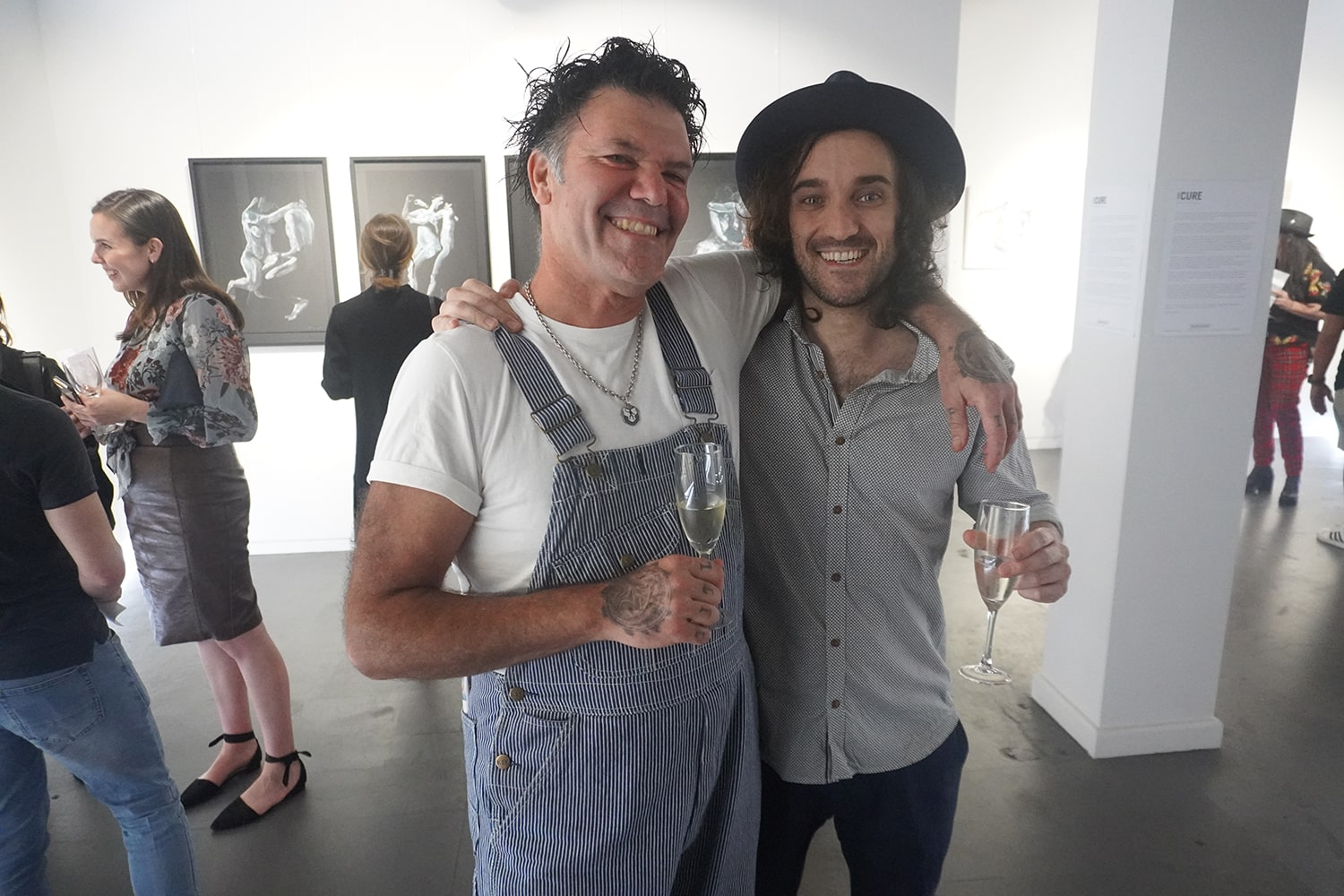 Peach Black Chippendale Gallery Sydney Art Out Live Cure Opening December 2020 11