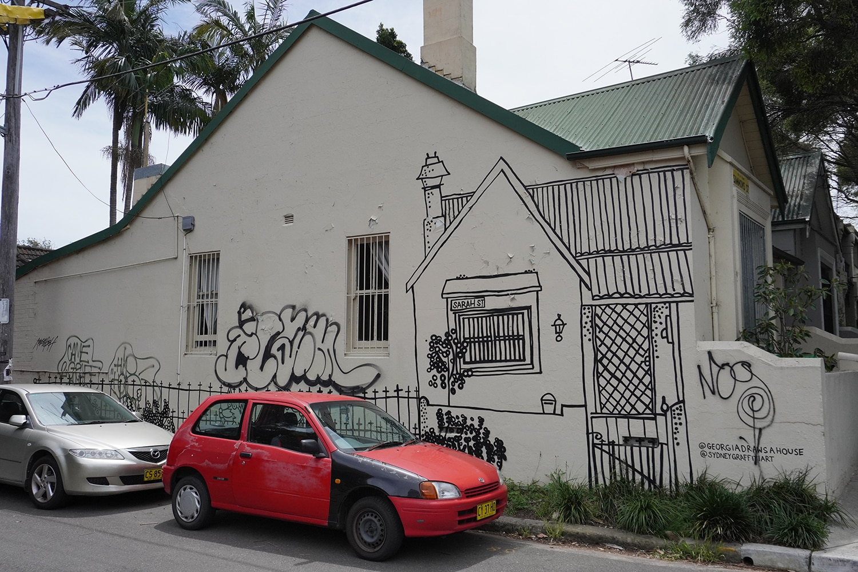 Sarah Street Enmore Street Art Sydney Art Out Live Georgia Norton Lodge